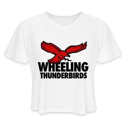 Wheeling Thunderbirds - Women's Cropped T-Shirt