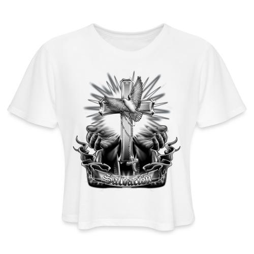 Salvacion by RollinLow - Women's Cropped T-Shirt