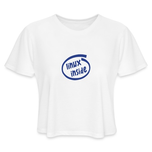 linux inside - Women's Cropped T-Shirt