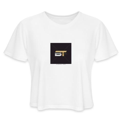 BT logo golden - Women's Cropped T-Shirt