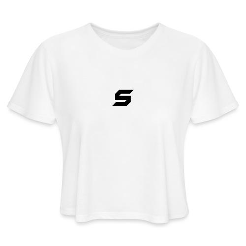 A s to rep my logo - Women's Cropped T-Shirt