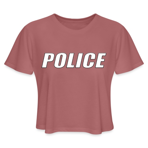 Police White - Women's Cropped T-Shirt