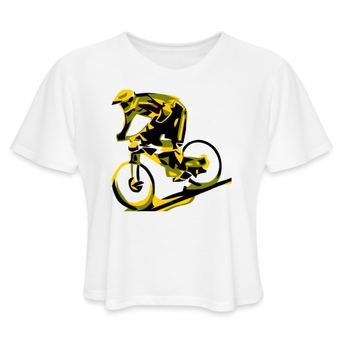 DH Freak - Mountain Bike Hoodie - Women's Cropped T-Shirt