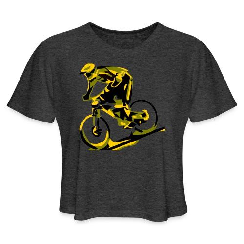 DH Freak - Mountain Bike Hoodie - Women's Cropped T-Shirt