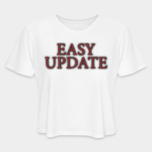 Easy Update Logo Red - Women's Cropped T-Shirt