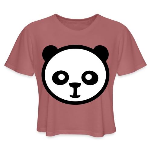 Panda bear, Big panda, Giant panda, Bamboo bear - Women's Cropped T-Shirt