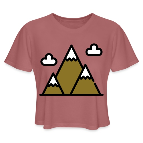 The Mountains - Women's Cropped T-Shirt