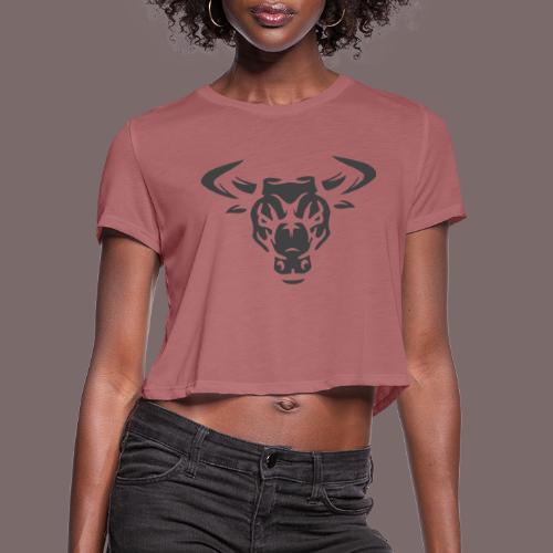 Grey Bull - Women's Cropped T-Shirt