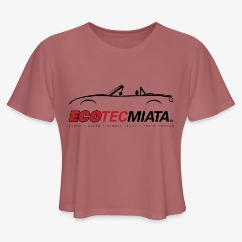 Ecotec Miata Logo - Women's Cropped T-Shirt
