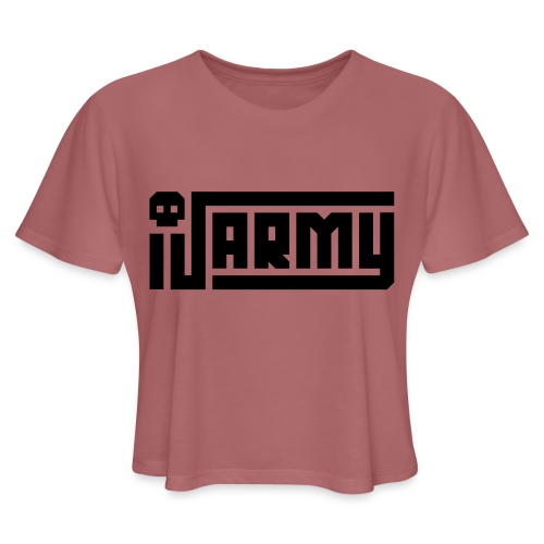 iJustine - iJ Army Logo - Women's Cropped T-Shirt