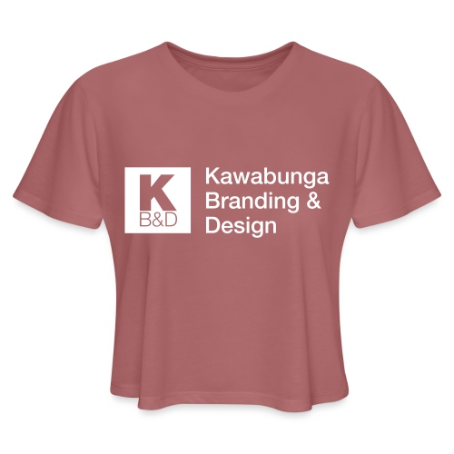 KBD Signature_blanc - Women's Cropped T-Shirt