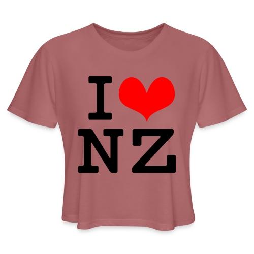 I Love NZ - Women's Cropped T-Shirt