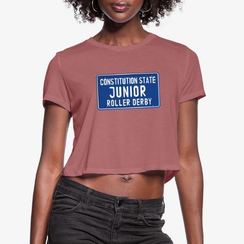 Constitution State Junior Roller Derby - Women's Cropped T-Shirt