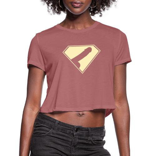 Supercock 1 - Women's Cropped T-Shirt