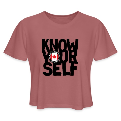 know black - Women's Cropped T-Shirt