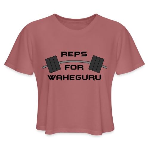 REPS FOR WAHEGURU - Women's Cropped T-Shirt