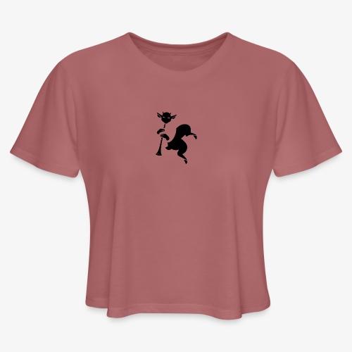 imagika black - Women's Cropped T-Shirt
