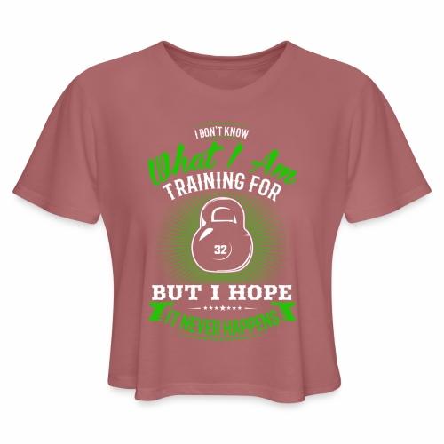 Workout Training - Women's Cropped T-Shirt
