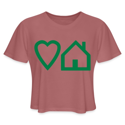 ts-3-love-house-music - Women's Cropped T-Shirt