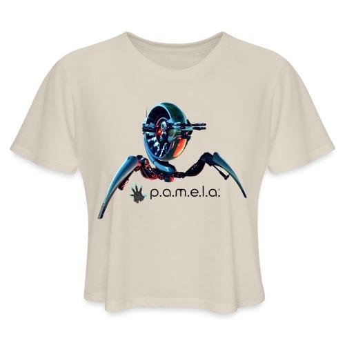 P.A.M.E.L.A. Turret - Women's Cropped T-Shirt