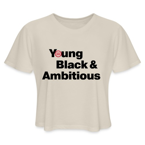 YBA white and gray shirt - Women's Cropped T-Shirt