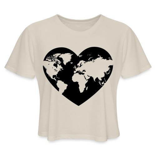 Earth Love - Women's Cropped T-Shirt