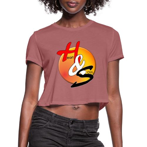 Rcahas logo gold - Women's Cropped T-Shirt