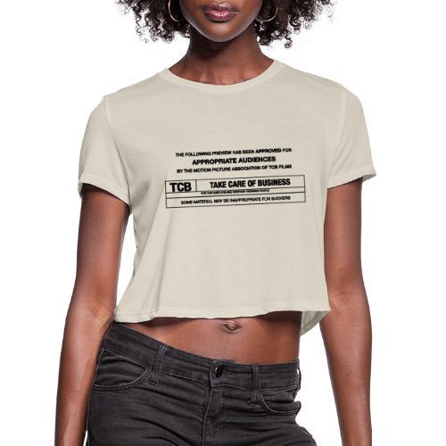 TCB Films Disclamer - Women's Cropped T-Shirt