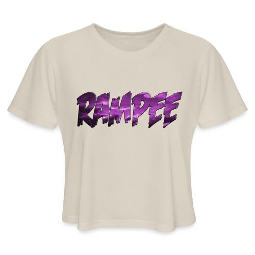 Purple Cloud Rampee - Women's Cropped T-Shirt