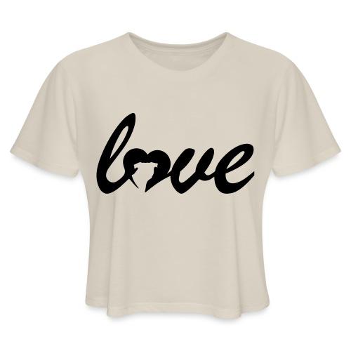 Dog Love - Women's Cropped T-Shirt
