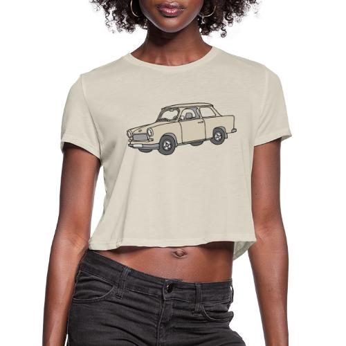 Trabant (papyrus car) - Women's Cropped T-Shirt