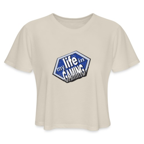 My Life In Gaming sticker - Women's Cropped T-Shirt