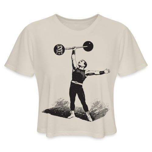 Women's 2Ton Sideshow Strongman Shirt - Women's Cropped T-Shirt