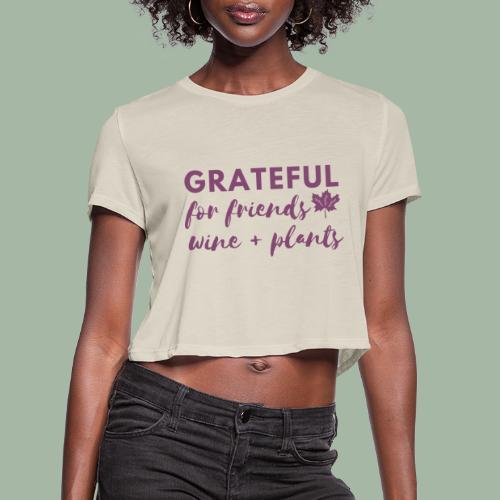 Grateful - Women's Cropped T-Shirt