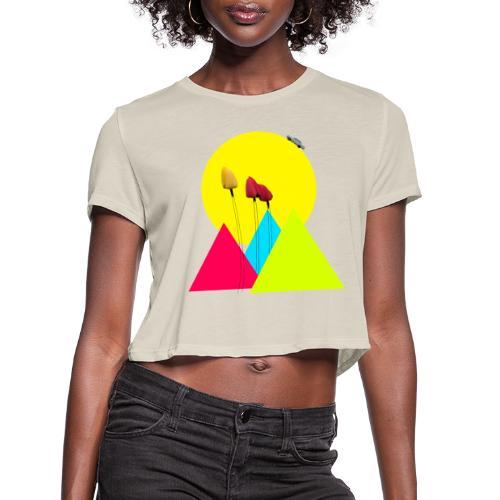 tulips - Women's Cropped T-Shirt