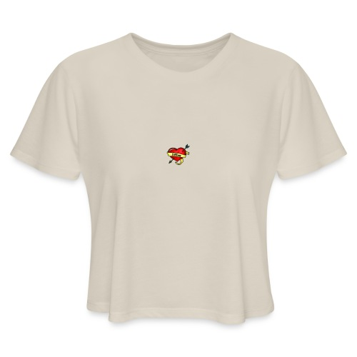 i love mom - Women's Cropped T-Shirt