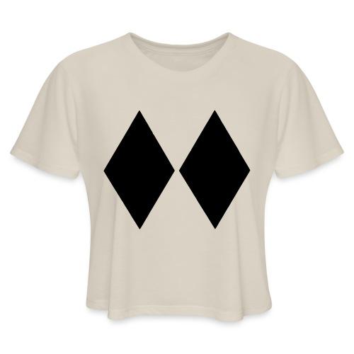 Double Black Diamond - Women's Cropped T-Shirt