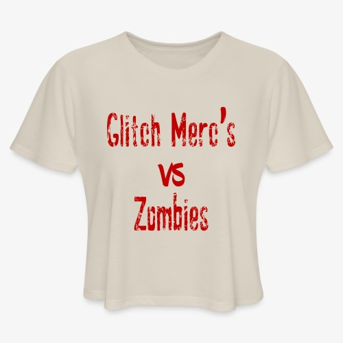 glitch zombie red - Women's Cropped T-Shirt