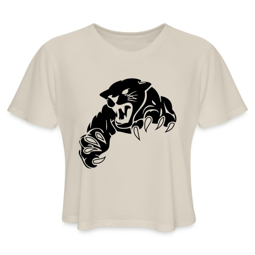 panther custom team graphic - Women's Cropped T-Shirt