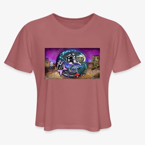 Mother CreepyPasta Land - Women's Cropped T-Shirt
