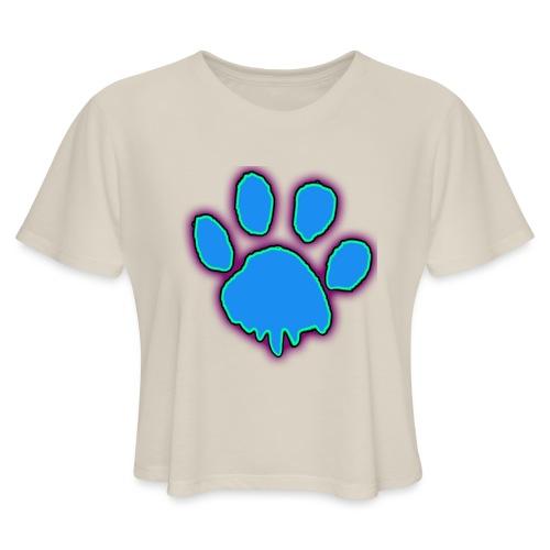 driping paw - Women's Cropped T-Shirt
