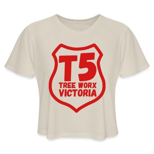 T5 tree worx shield - Women's Cropped T-Shirt