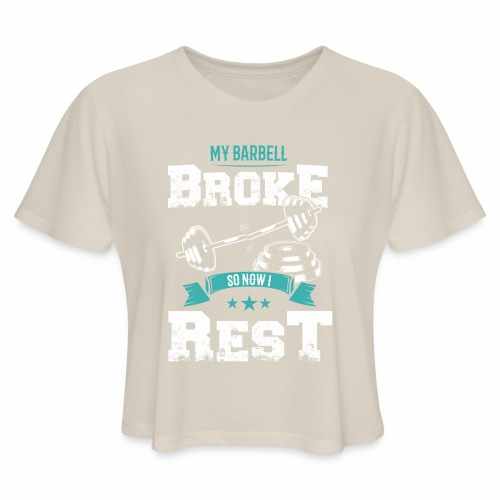 Workout Resting Time - Women's Cropped T-Shirt