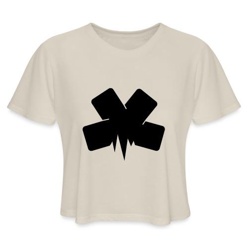 PixelSashay - Black Logo - Women's Cropped T-Shirt