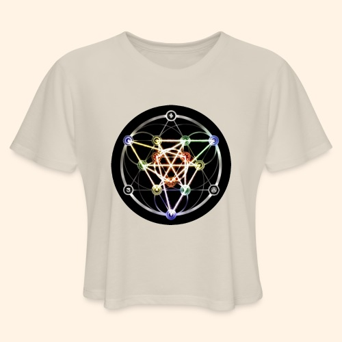 Classic Alchemical Cycle - Women's Cropped T-Shirt