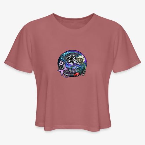 Mother CreepyPasta Nursery Rhyme Circle Design - Women's Cropped T-Shirt