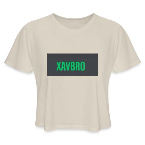 xavbro green logo - Women's Cropped T-Shirt