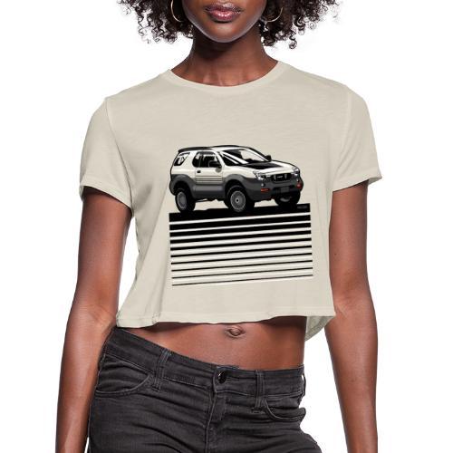 VX SUV Lines - Women's Cropped T-Shirt