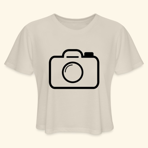 Camera - Women's Cropped T-Shirt