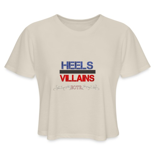 Eyes on the Ring Heels/Villains - Women's Cropped T-Shirt